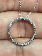 """ROBERTO COIN 18K White Gold Diamond Circle of Life Pendant (16"""")"""