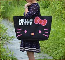 HelloKitty Black Shopping  Handbag Tote Shoulder Bag 2017  New  Bow Big Size