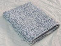 5 Yard Cotton Voile Hand Block Print Fabric Natural Dyes Sanganer Indian white
