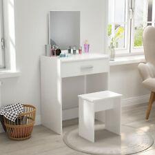Modern Dressing Table Makeup Desk Vanity Set w/Drawer Mirror Stool Bedroom White