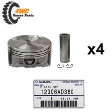 Subaru Genuine Piston Set x4 + Gudgeon Pins + Circlips 12006AD380