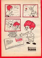 Pubblicità Advertising Werbung 1969 cioccolato ICAM