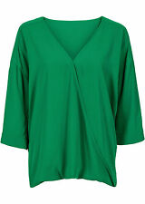 Shirt-Bluse in Wickeloptik Gr.44
