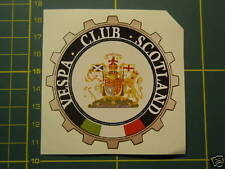 SCOTLAND  VESPA CLUB  Sticker PIAGGIO GS,PX,GL,GT,LML