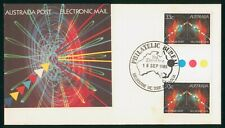 MayfairStamps Australia FDC 1985 Electronic Mail Gutter Sheet First Day Cover ww