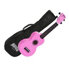 Mahalo Ukulele MR1PK Rainbow Series PINK Soprano Ukulele Aquila Strings Gig Bag