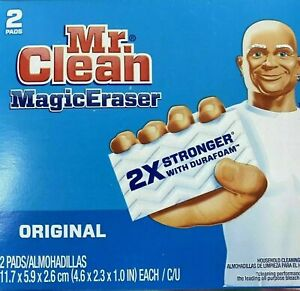 Mr. Clean MAGIC ERASER Pack of 2 Multi Puropse Cleaning Sponges Kitchen Bathroom