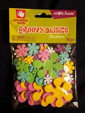 Foam Stickers GROOVY DAISIES Fibre Craft 70 Pieces
