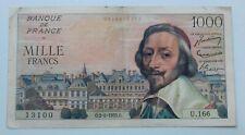 """Banknote/Billet 1000 Francs """"RICHELIEU"""" 2-6-1955"""
