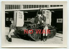 WWII ORIGINAL GERMAN PHOTO TANK'S CREW CLOSE TANK / PANZER +