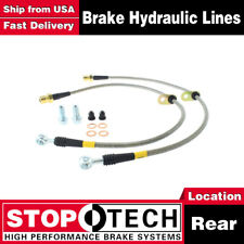Stoptech Rear Stainless Steel Braided Brake Lines For 2010-2015 Chevrolet Camaro