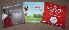 2014 2015 & 2016 GOLF Spectator Guides MEIJER LPGA Classic Blythefield 1st 3 Yrs