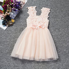 Toddler Baby Girls Princess Dress Kids Tulle Tutu Party Wedding Pageant Dress