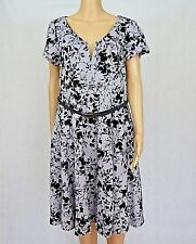 City Chic NWT Size S/16 Cap Sleeve Skater Style Flock Floral Dress RRP US $89