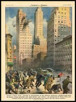 1942 Panic in New York, Anti-Aircraft battery shot by accident in the City WWII