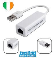 Adaptateur USB2.0 Adaptateur LAN pour carte réseau RJ45 USB à Ethernet 10/100