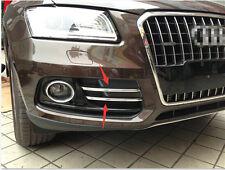 ABS Chrome Front Fog Light Lamp Stripe cover trim 4pcs for Audi Q5 2013-2015