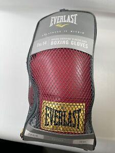 🔥 EVERLAST Boxing Gloves Laceless Training Gloves Red 14oz 🔥