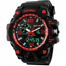 Big Dial Sports Watch SKMEI Men-Women 50M Swimming LED Digital Military 2019-RED