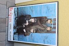 VINTAGE 1964 THE BEATLES LONDON PALLADIUM POSTER IN FRAME /MADE IN GREAT BRITAIN