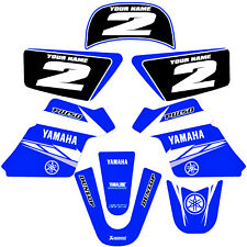 YAMAHA PW 50 PW50  GRAPHICS KIT DECALS DECO Fits Years 1990 - 2018 Blue
