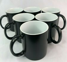 6pcs 11oz Blank Sublimation Full Color Changing Mugs Magic Cup Blackglossy