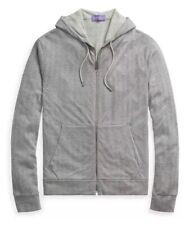 Ralph Lauren Purple Label Modal Pima Cotton Hoodie Sweater Jacket Herringbone XL