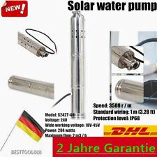 284W 24V DC Solar Wasser pumpe Tauchpumpe S242T-40 Tiefbrunnenpumpe 2m³/h DHL EU