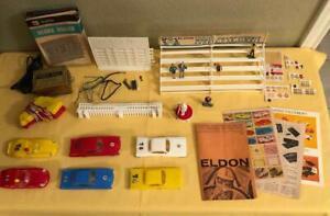 Vintage 1060's Eldon Slot Car Road Racing Set Pieces 1/32
