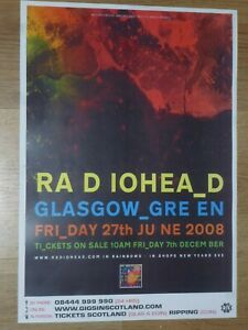 Radiohead - Glasgow Green june 2008 live music show tour concert gig poster