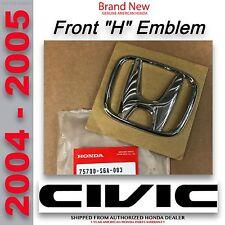 OEM Honda Civic SEDAN Front Grille H Emblem 2004 - 2005     (75700-S6A-003SEDAN)
