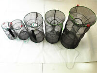 1 New Fish Crayfish Lobster Shrimp Prawn Eel Live Trap Net Bait Fishing Pot Cage