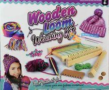 Telar para tejer madera de arranque para principiantes con lanzaderas & Instrucciones Completas De Lana Nuevo