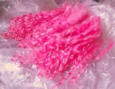 HOT PINK wool locks 1 oz. separated dyed curls felting spin