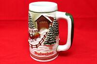 Anheuser Busch Budweiser 1984 Covered Bridge Holiday Beer Stein Excellent