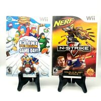 Disney Club Penguin Game Day W/ Poster + Nerf N-Strike Combo Bundle Nintendo Wii