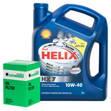 Oil Filter Service Kit With Shell Helix HX7 10w40 Semi Synthetic Engine Oil 5L