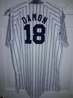 Johnny Damon New York Yankees shirt MLB NY Yankee baseball Kids Jersey Youth XL