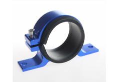 UKNEST Fuel Pump Bracket Mount Clamp 60mm Aluminium Alloy Blue Universal Cars