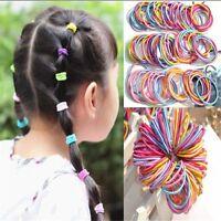 100PCS Cute Kids Girl Elastic Tiny Hair Tie Band Rope Ring Ponytail Holder LOT