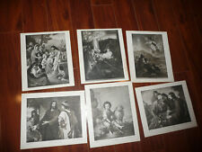 LOT of 6 Perry Pictures Jesus Various Vintage 1930s Art Prints 10 x 12 READ