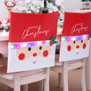 Chair Back Cover for Christmas Dinner 10 Glow Small Bulbs New Year Party supply
