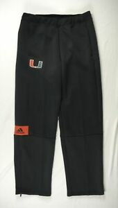 Miami Hurricanes adidas Athletic Pants Men's Black Poly Used Multiple Sizes
