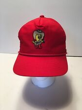 Trucker Hat Baseball Cap with Tweety Bird with Cowboy Hat Red Adjustable back
