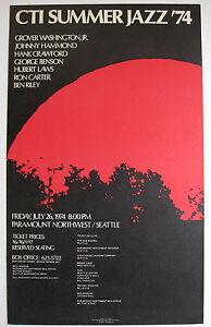 CTI JAZZ '74 GEORGE BENSON HUBERT LAWS Paramount Northwest US ORG CONCERT POSTER