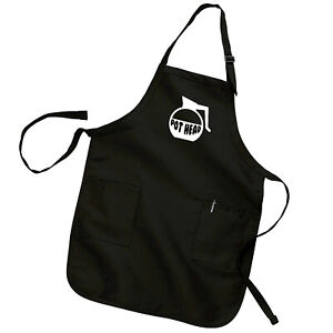 Pot Head Coffee Lover Pun Barista Chef Funny Cooking Kitchen Apron w/ Pockets