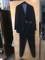 Marks And Spencer Dark Blue Navy Suit 32 33 Wool Travel 40 Chest Jacket