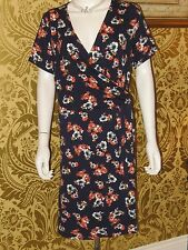 PAPAYA BLUYE FLORAL CROSS OVER DRESS SHORT SLEEVES SIZE 18 - NEW WITHOUT TAGS