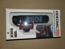 Rode VideoMic GO Lightweight On Camera Microphone - New Open Box