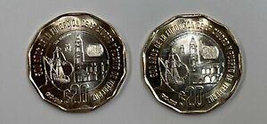2 (Two) - 20 pesos Mexico 1519 - 2019, 500 Aniversario De Veracruz Uncirculated